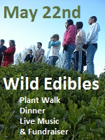 Save the Date 5/22 Wild Edibles
